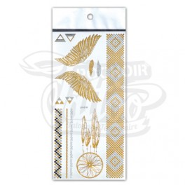 Planche de tattoo or et argent
