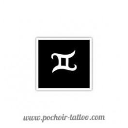 Pochoir signe zodiaque Gemeaux