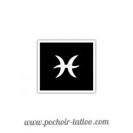 Pochoir signe zodiaque Poisson