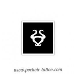 Pochoir signe zodiaque Taureau