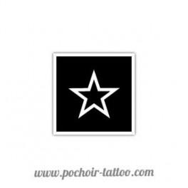 Pochoir étoile contour