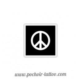 Pochoir Peace and Love
