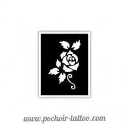 Pochoir Rose