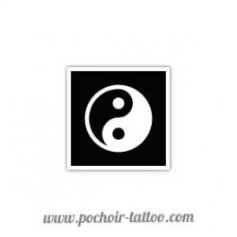 Pochoir Yin et Yang